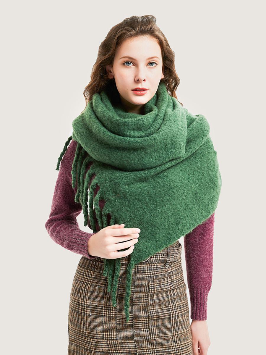 shestar wholesale fringe trim jersey shawl scarf